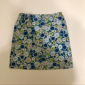 Ann Taylor Skirts - Blue, White and Green Geometric Pencil Skirt SK-28