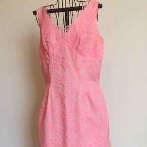 VINTAGE Dresses & Skirts - 💕 VINTAGE pink lace dress