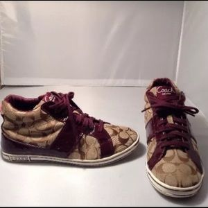 Coach Finch Q533 Canvas & Patent High Tops
