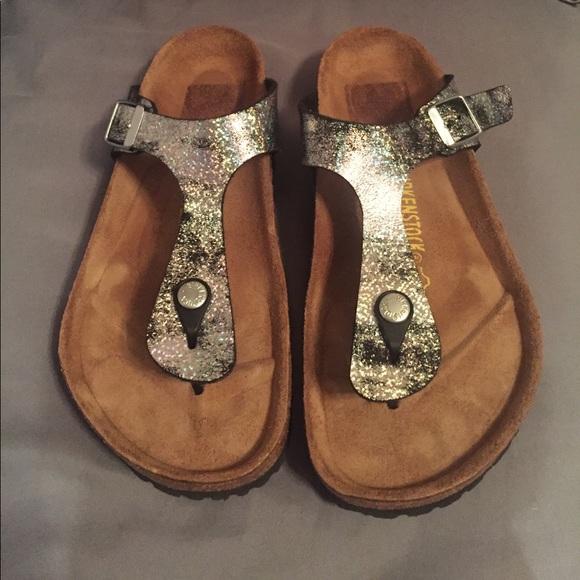 b30e48721f22a6 Birkenstock Shoes - Birkenstock Stardust Black Burke-Flo Gizeh
