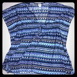 Pretty Blue multi Swimsuit Coverup - SW-8