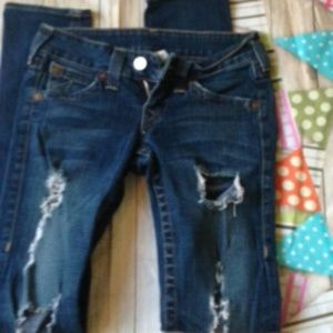 True Religion Ripped Distressed Jeans