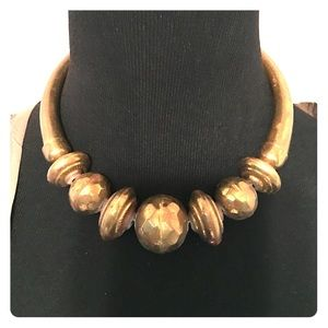 Authentic Vintage Tribal Brass Choker Necklace