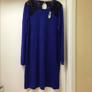 Anne Taylor Dresses & Skirts - NWT size 12 Anne Taylor midnight blue dress.