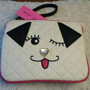Betsy Johnson  Handbags - Betsy Johnson NWT WinkyPuppy LG Wristlet