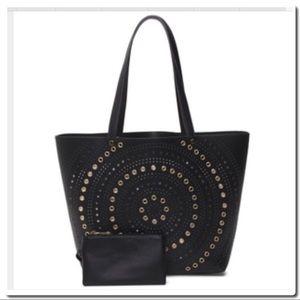 Handbags - Tote with Grommet Cut Detail