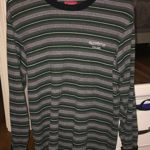 Supreme Tops Long Sleeve Striped Knit Fw16