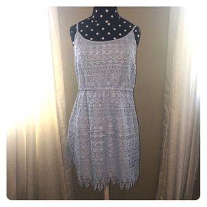 H&M Dresses & Skirts - H&M baby blue lace dress