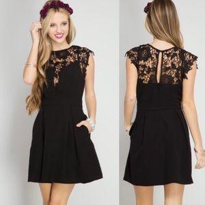 🖤JUST IN🖤 Little Black Dress LBD Lace Mini Dress