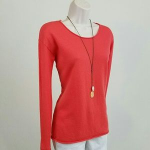 Barneys New York CO-OP Sweaters - Barney's lightweight coral cashmere sweater