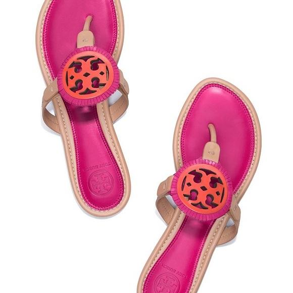 382e5609eddc95 Tory Burch fringe miller sandal tan