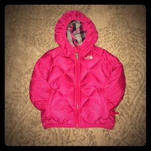 Girls North Face Jacket Reversible