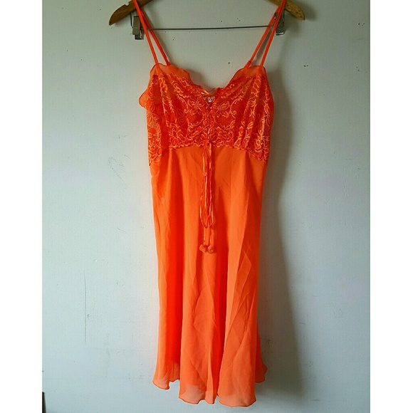 Lace Orange Silk Nightgown. Boutique. KG 289edda5c