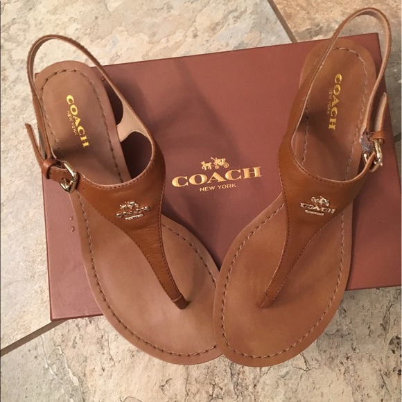 Coach Shoes Super Cute Brown Sandals Like New Size 7