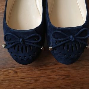 Karl Lagerfeld Shoes - Karl Lagerfeld Suede flats in Navy- EUC!