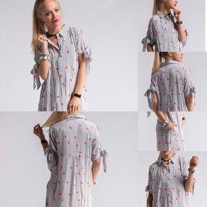 Dresses & Skirts - Lipsense Apparel - Lip Print Shirt Dress for Demos