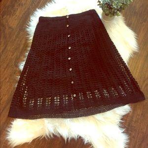 •Betsey Johnson• Crochet Skirt