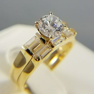 14k yellow gold Engagement Ring with Band