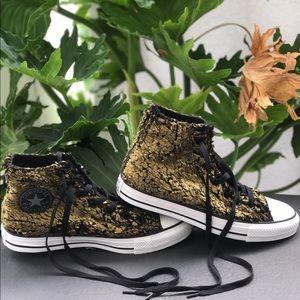 Converse Shoes - Converse All Star chuck ct hi gold/black/faux