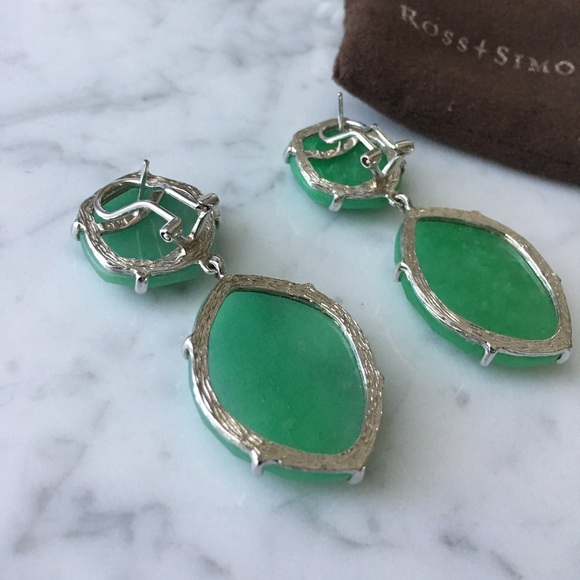 ross simons emerald and sterling silver statement