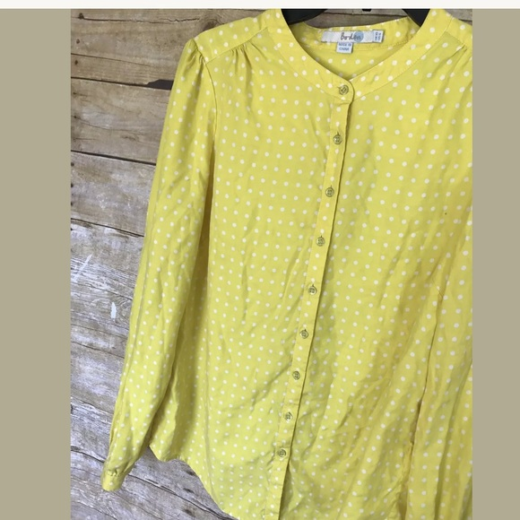 72 off boden tops boden yellow polka dot silk blouse for Boden yellow