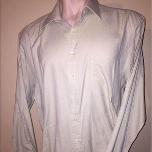 Hickey Freeman Other - Hickey-Freeman cotton shirt light tan 17/36 L Lrg