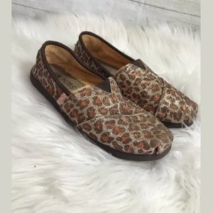 BOBS Shoes - BOBS Orange And Brown glitter slip on shoes