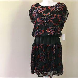 potter's pot Dresses & Skirts - NWT Red Teal & Black Burnout Velvet Dress, large