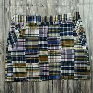 J. Crew Dresses & Skirts - J.Crew Patchwork Madras Mini Skirt