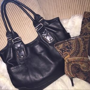 b. makowsky Handbags - Glove Leather B. Makowski authentic big bag🖤🖤