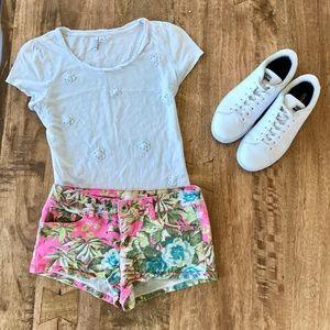 No Boundaries Pants - Floral Shorts