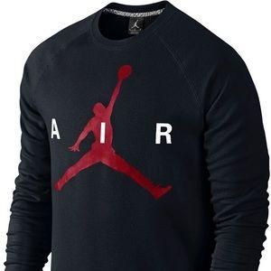 Jordan Sweaters Mens Nike Air Black Crewneck Poshmark
