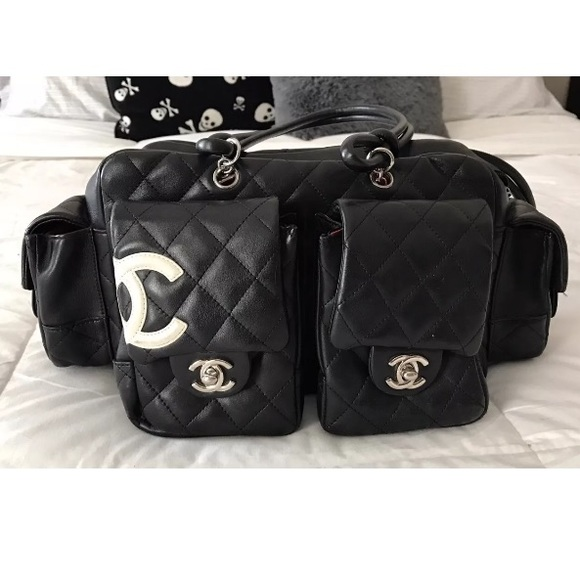 0faaf02e033c9d CHANEL Bags   Cambon Reporter Quilted Handbag Authentic   Poshmark