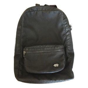 Jack Spade Other - Jack Spade wax coated black slim backpack