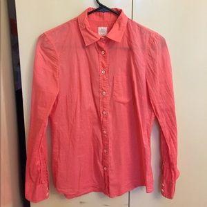 J crew the boy shirt. Salmon colored button down