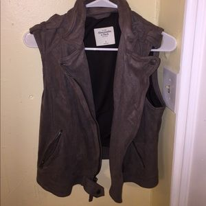 Abercrombie and Fitch suede vest