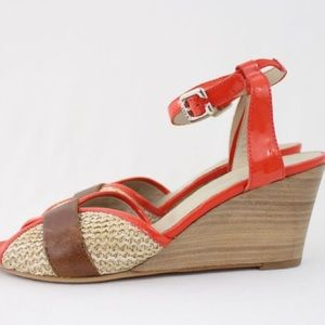 AGL Shoes - AGL (Attilio Giusti Leombruni) red and tan wedges!