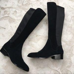 Donald J Pliner asphalt sport suede tall boots
