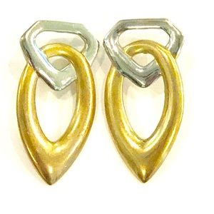 Vintage Jewelry - Vintage Gold & Silver Earrings