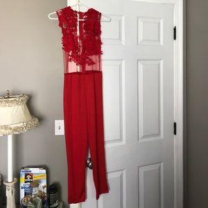 Pants - Red classy jumpsuit