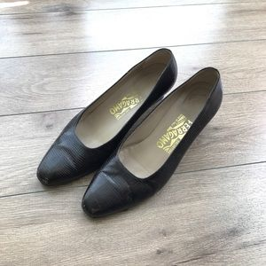 "Ferragamo Shoes - Made in Italy Ferragamo leather 2"" heels pumps"