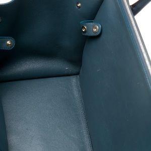 dec558bc6bdf Celine Bags - Celine Teal Double Zipper Trapeze Bag