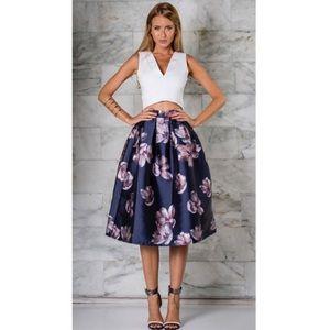 Dresses & Skirts - Runaway the label midnight rose skirt navy-S