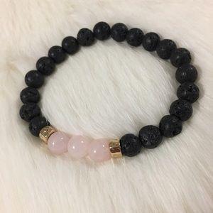 Jewelry - Handmade rose quartz bracelet