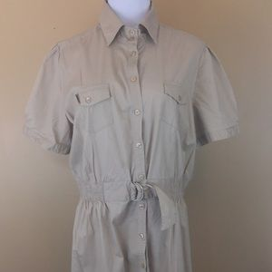 Millennium Tan Shirt Dress Career Plus Size 3X