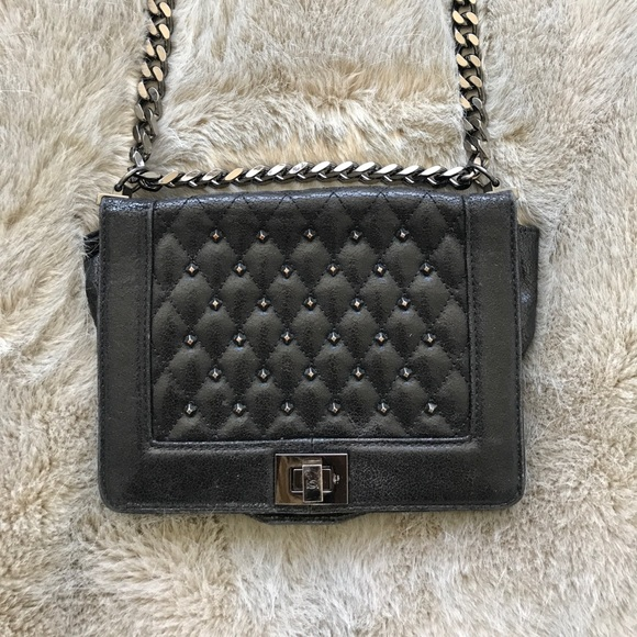 d2b97fda65 bebe Handbags - BEBE | Black Quilted Bag w/ Chain Strap
