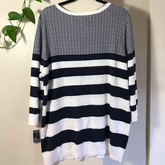 Cable Knit Striped Sweater / Checkout. YOU ALSO MIGHT LIKE. Previous Next Apologies. Ok. FREE shipping and FREE returns. FREE SHIPPING We offer free express shipping across the globe. Learn more. FREE RETURNS A return shipping label is included with every order - and returns on USA orders are FREE within 15 days.
