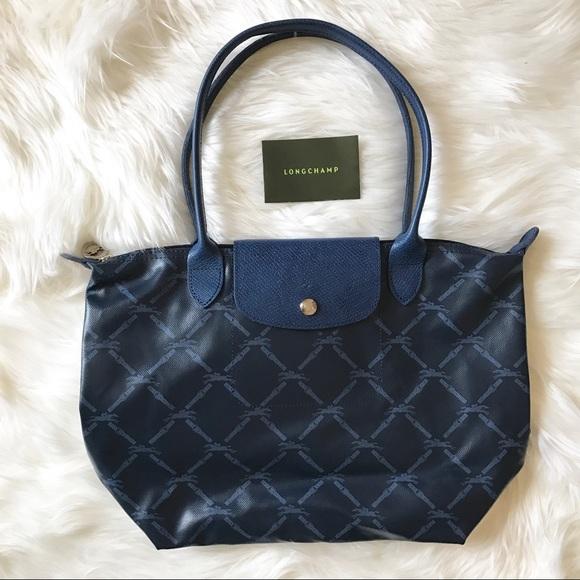 Longchamp Handbags - LONGCHAMP - LM Metal Medium Navy Tote 7bb8b7a8cbe21