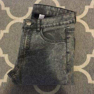 H&M Denim - Raw Edge Gray Skinny Jeans
