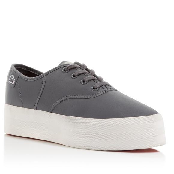 2066b474c97 Lacoste Shoes - EUC GREY LACOSTE RENE PLATFORM SNEAKERS WOMENS 7.5